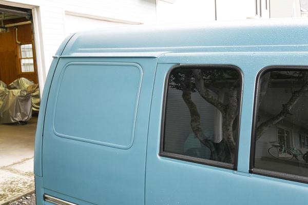 サンバー クオーター窓 塗装